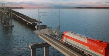 Железная дорога по Крымскому мосту