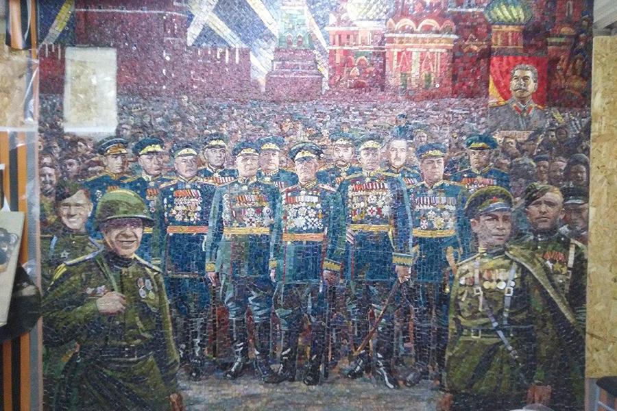 Мозаики со Сталиным в храме Министерства обороны в парке Патриот