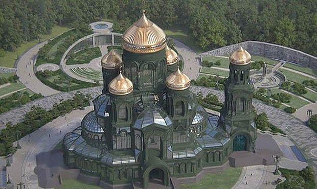 Камуфляжная расцветка Главного храма Военных сил России