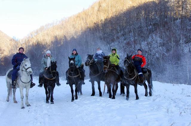 Зимний отдых в Адыгее - конные маршруты