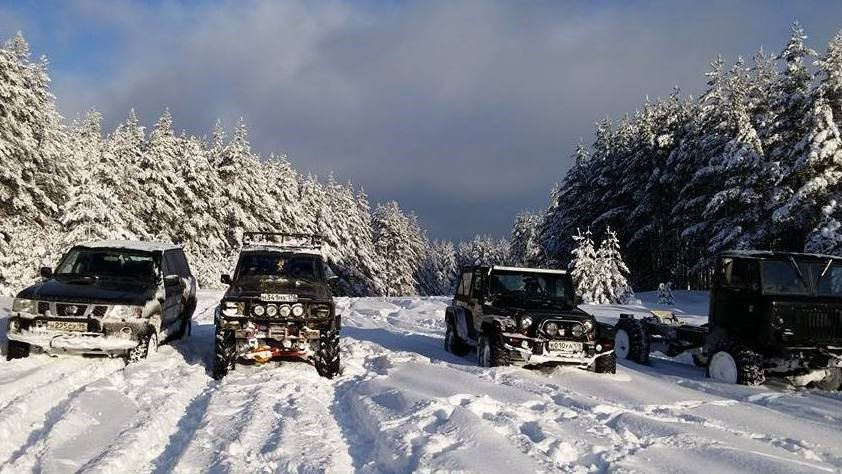 Зимний отдых в Адыгее - джиппинг