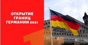 Открытие границ Германии 2021